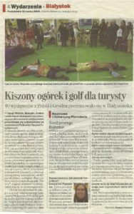 Zdjęcie przedstawia skan artykułu z Gazety Wyborczej z 20 marca 2006 r., w którym Katarzyna Pierwienis w wywiadzie opowiada o pomyśle na promocję Białegostoku za pomocą śledzia